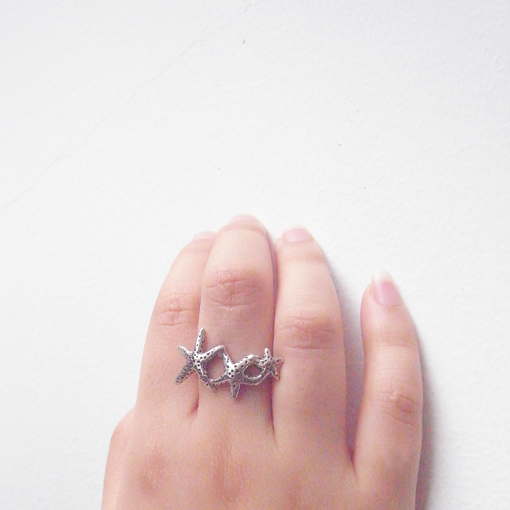 Momocreatura: Star fish ring silver | Jewelry > Rings -  Hiphunters Shop