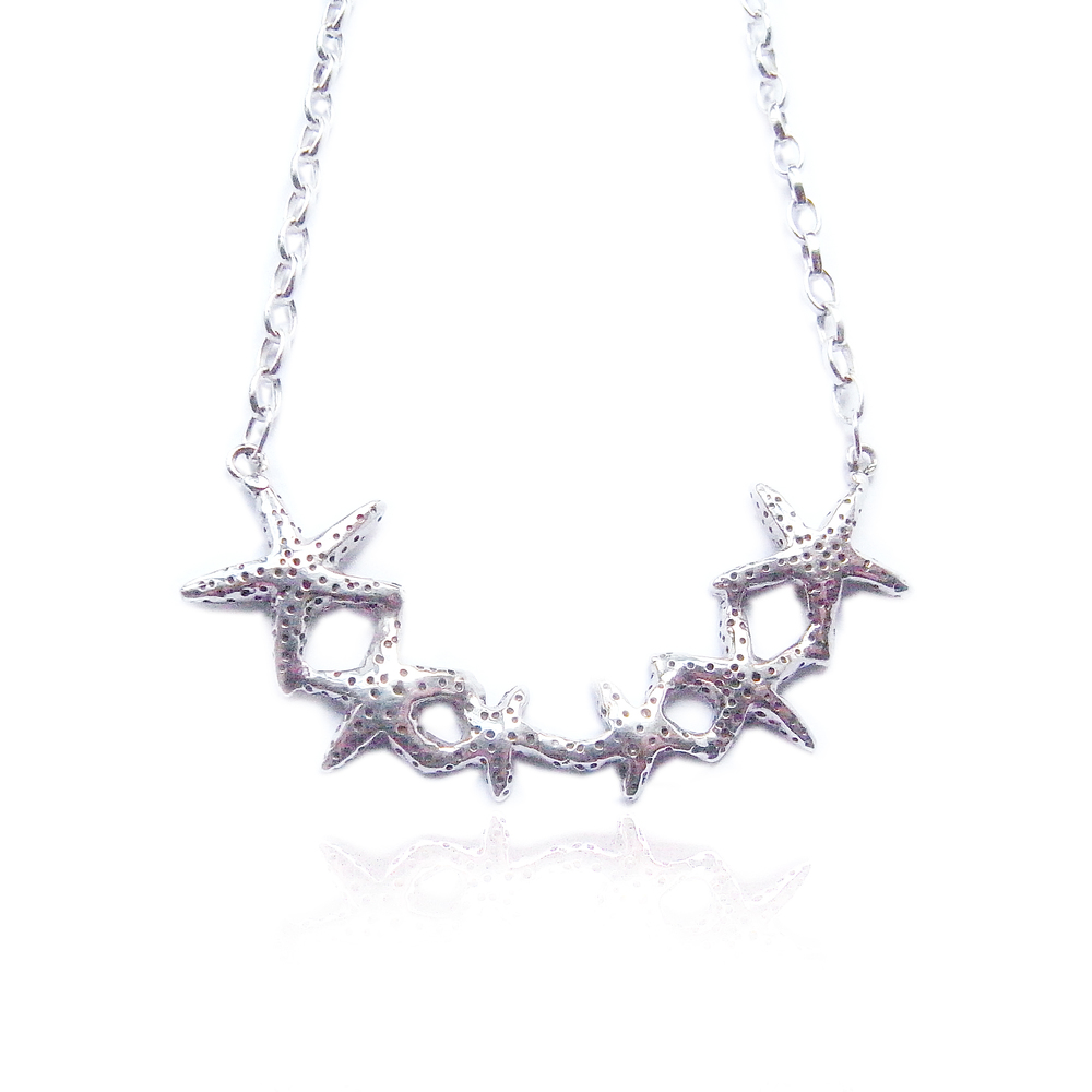 Star fish necklace silver