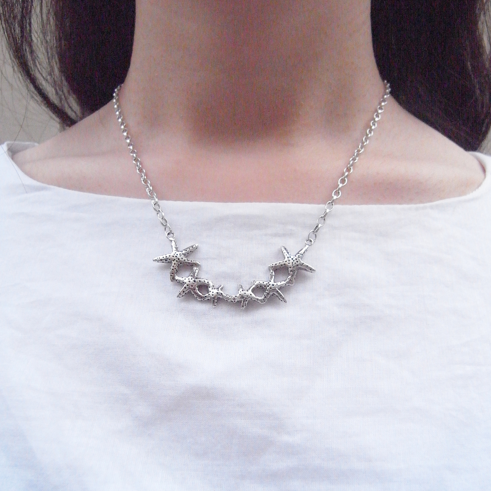 Momocreatura: Star fish necklace silver | Jewelry > Necklaces -  Hiphunters Shop