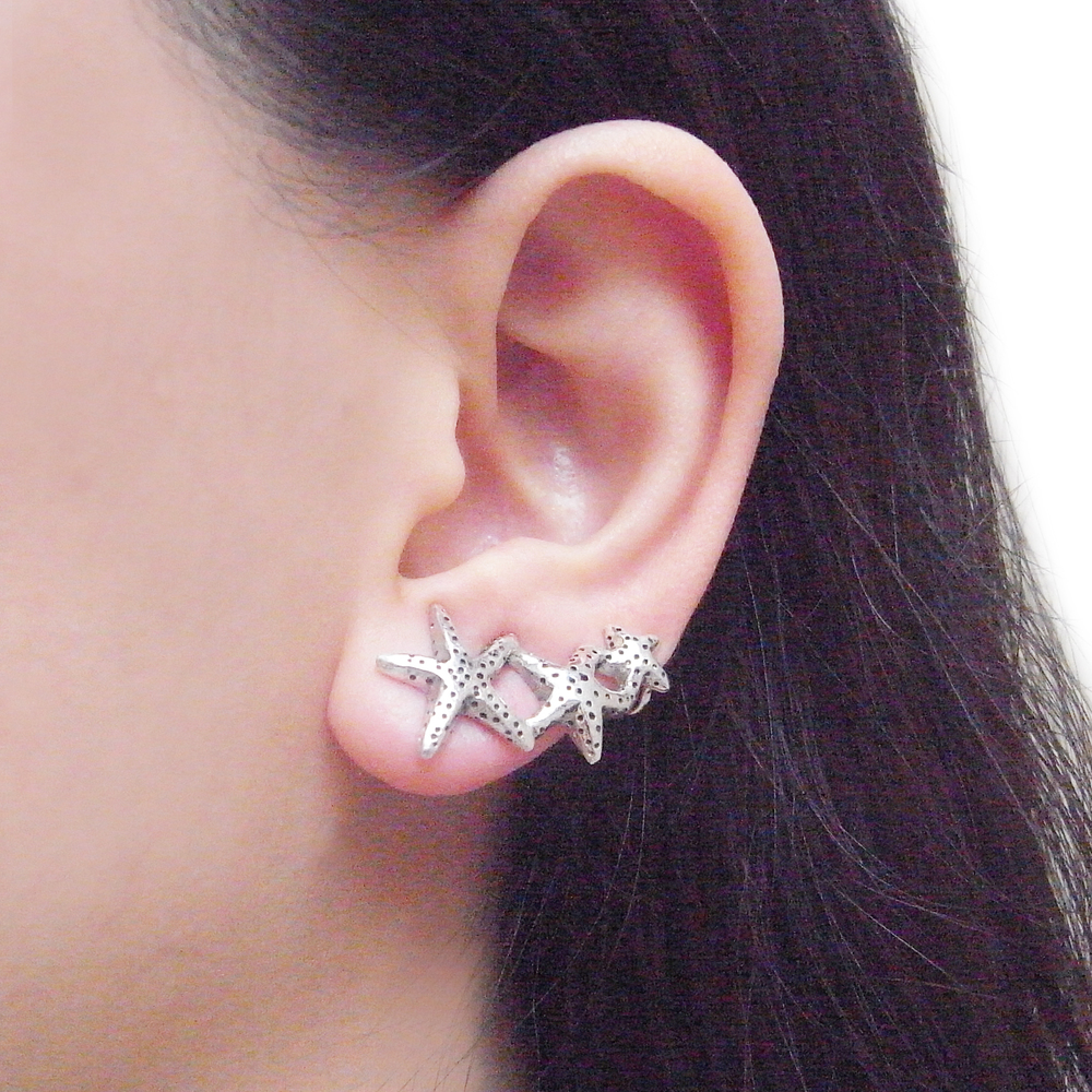 Momocreatura: Starfish earrings silver | Jewelry > Earrings -  Hiphunters Shop