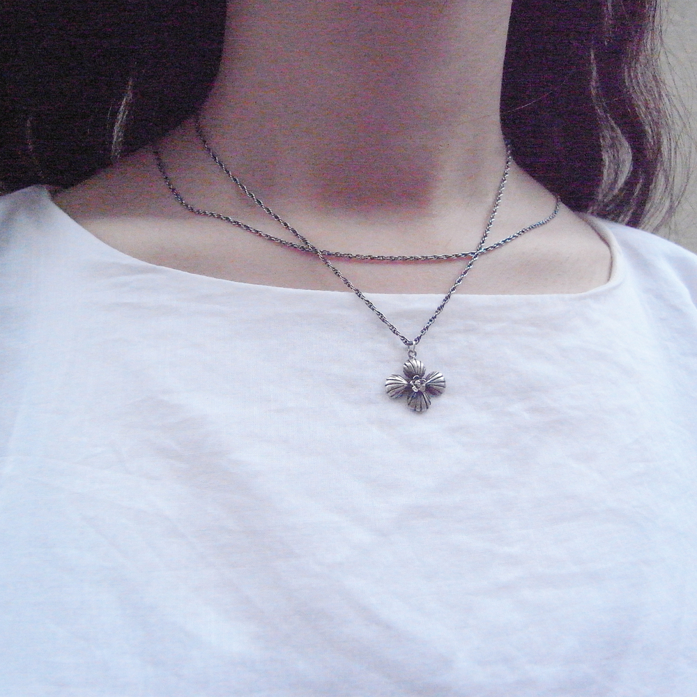 Momocreatura: Cross shell long necklace silver | Jewelry > Necklaces -  Hiphunters Shop
