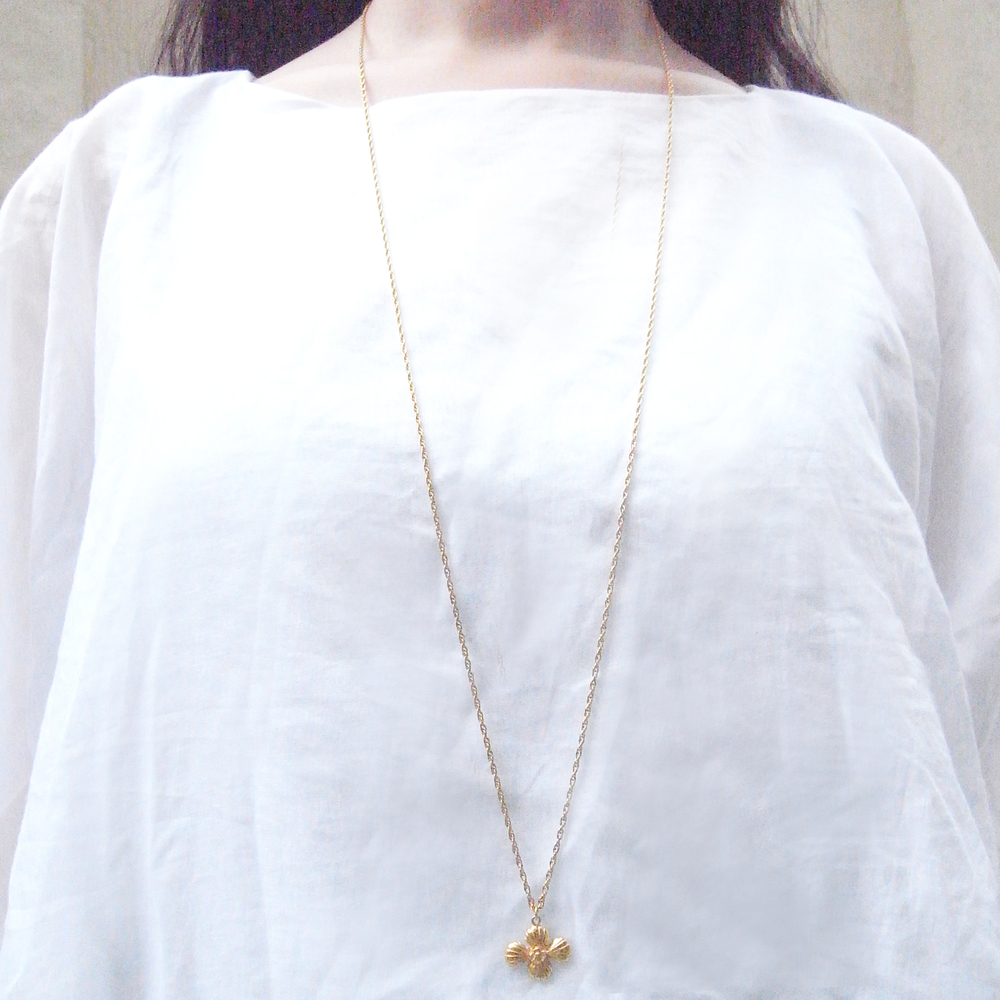 Momocreatura: Cross shell long necklace gold | Jewelry > Necklaces -  Hiphunters Shop