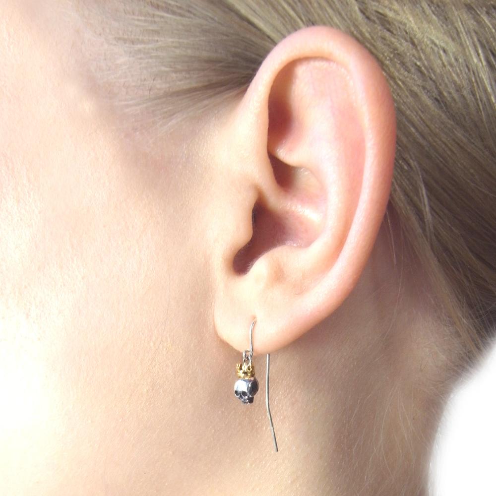 Momocreatura: Queen skull earrings | Jewelry > Earrings -  Hiphunters Shop