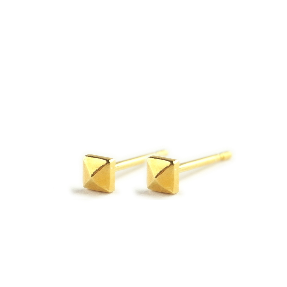 Momocreatura: Micro studs earrings gold   Jewelry > Earrings -  Hiphunters Shop