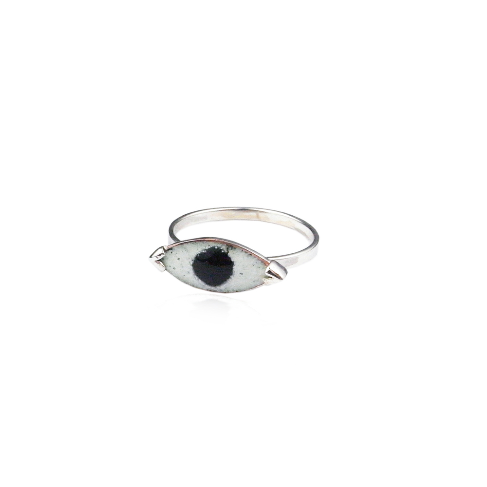 Momocreatura: Enamel eye ring | Jewelry > Rings -  Hiphunters Shop