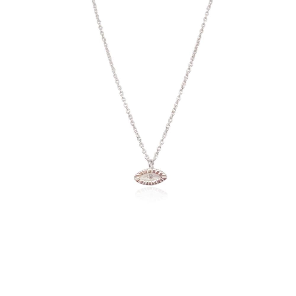 Tiny eye necklace silver