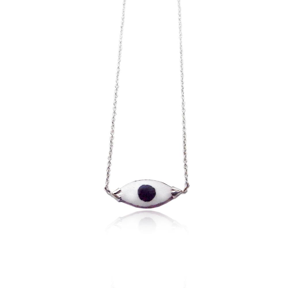 Momocreatura: Enamel eye necklace | Jewelry > Necklaces -  Hiphunters Shop