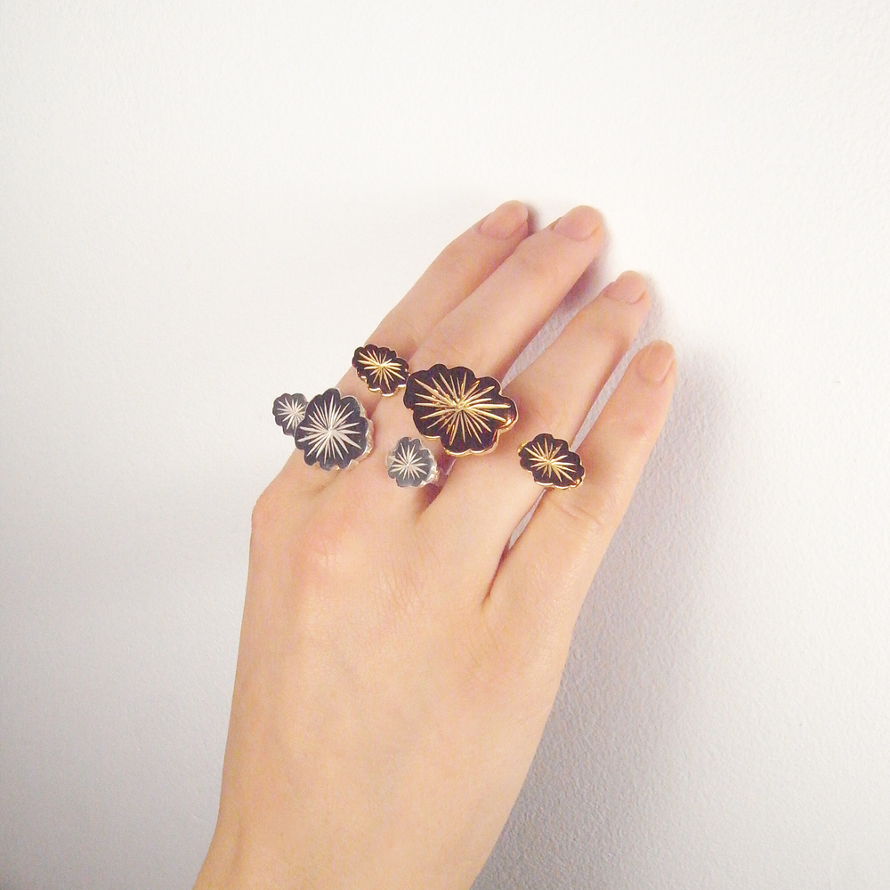 Momocreatura: Triple cloud ring silver | Jewelry > Rings -  Hiphunters Shop