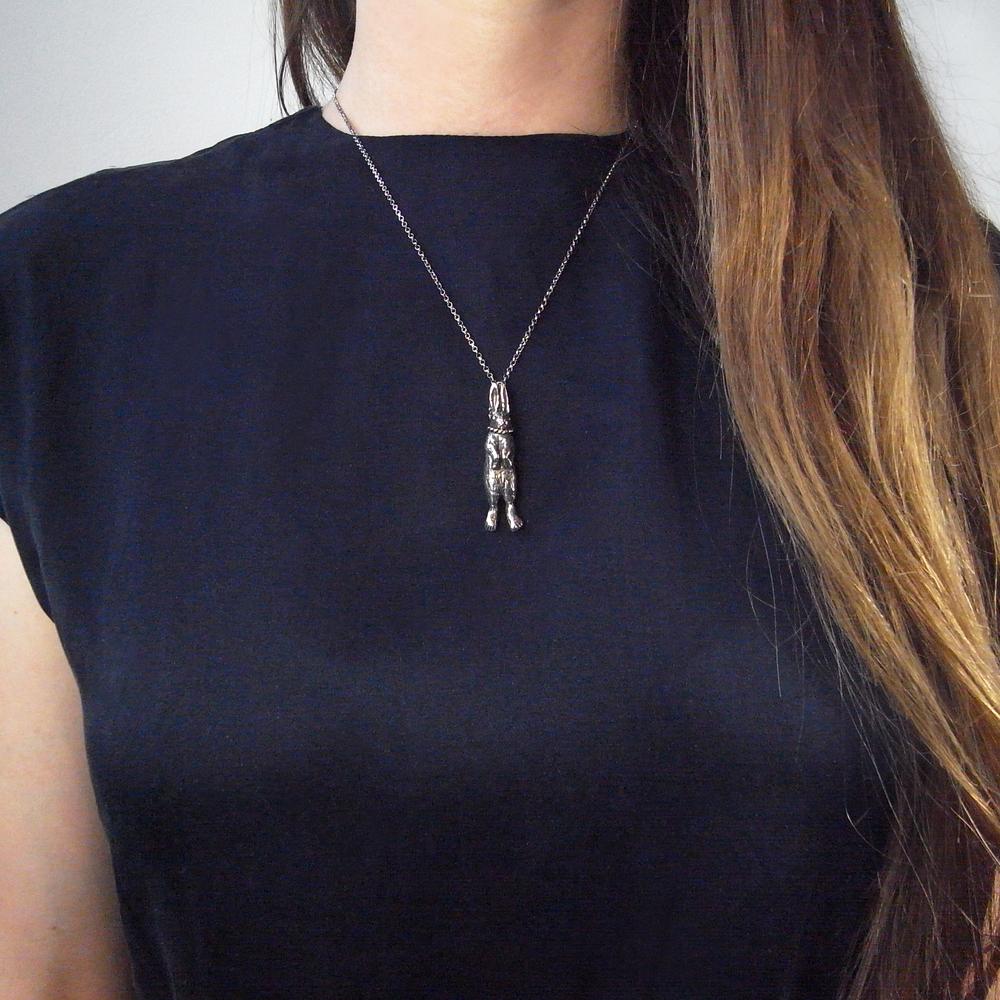 Momocreatura: Hanging Rabbit Pendant   Jewelry > Necklaces -  Hiphunters Shop