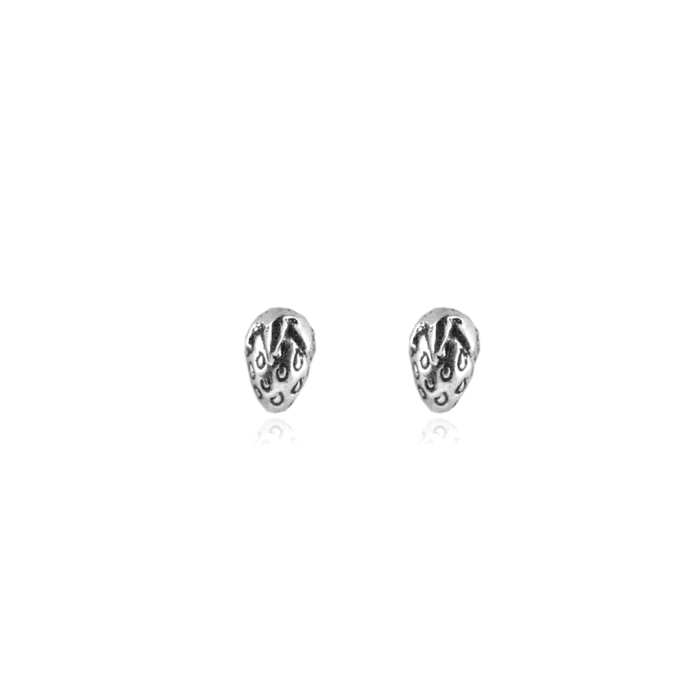 Momocreatura: Tiny strawberry studs silver | Jewelry > Earrings -  Hiphunters Shop