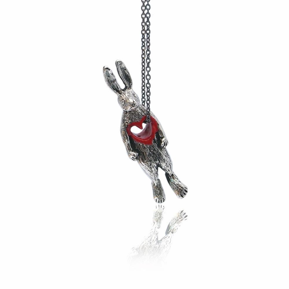 Stolen Heart Bunny Necklace