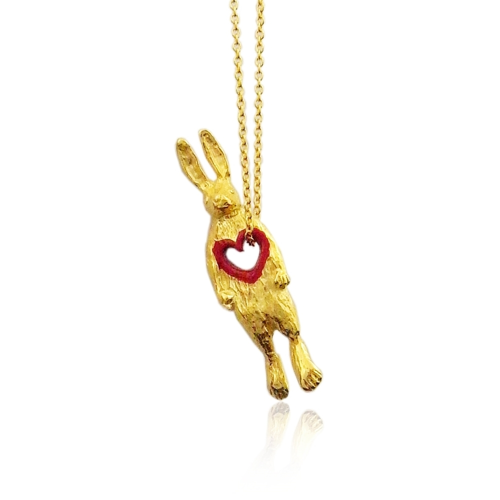 Momocreatura: Stolen heart bunny necklace gold | Jewelry > Necklaces -  Hiphunters Shop