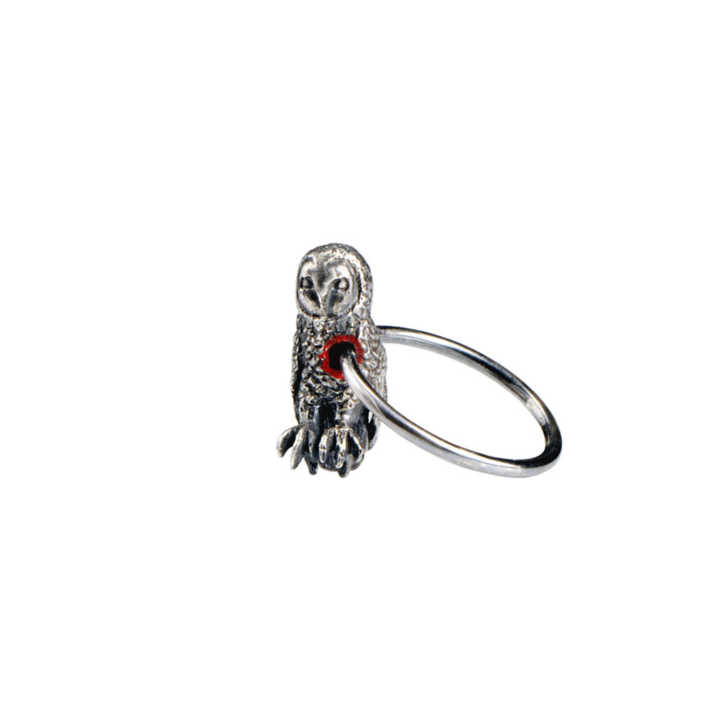 Hole In Heart Owl Ring
