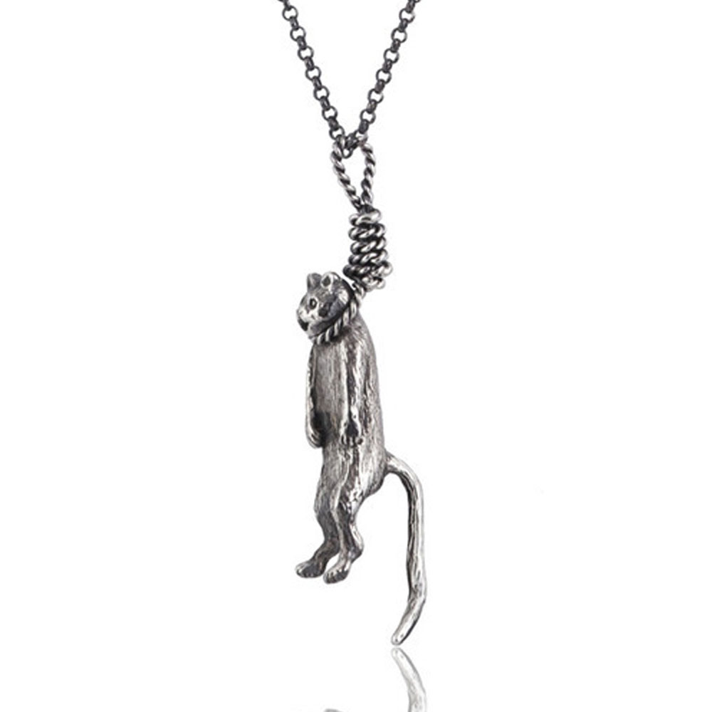 Momocreatura: Hanging Cat Pendant | Jewelry > Necklaces -  Hiphunters Shop