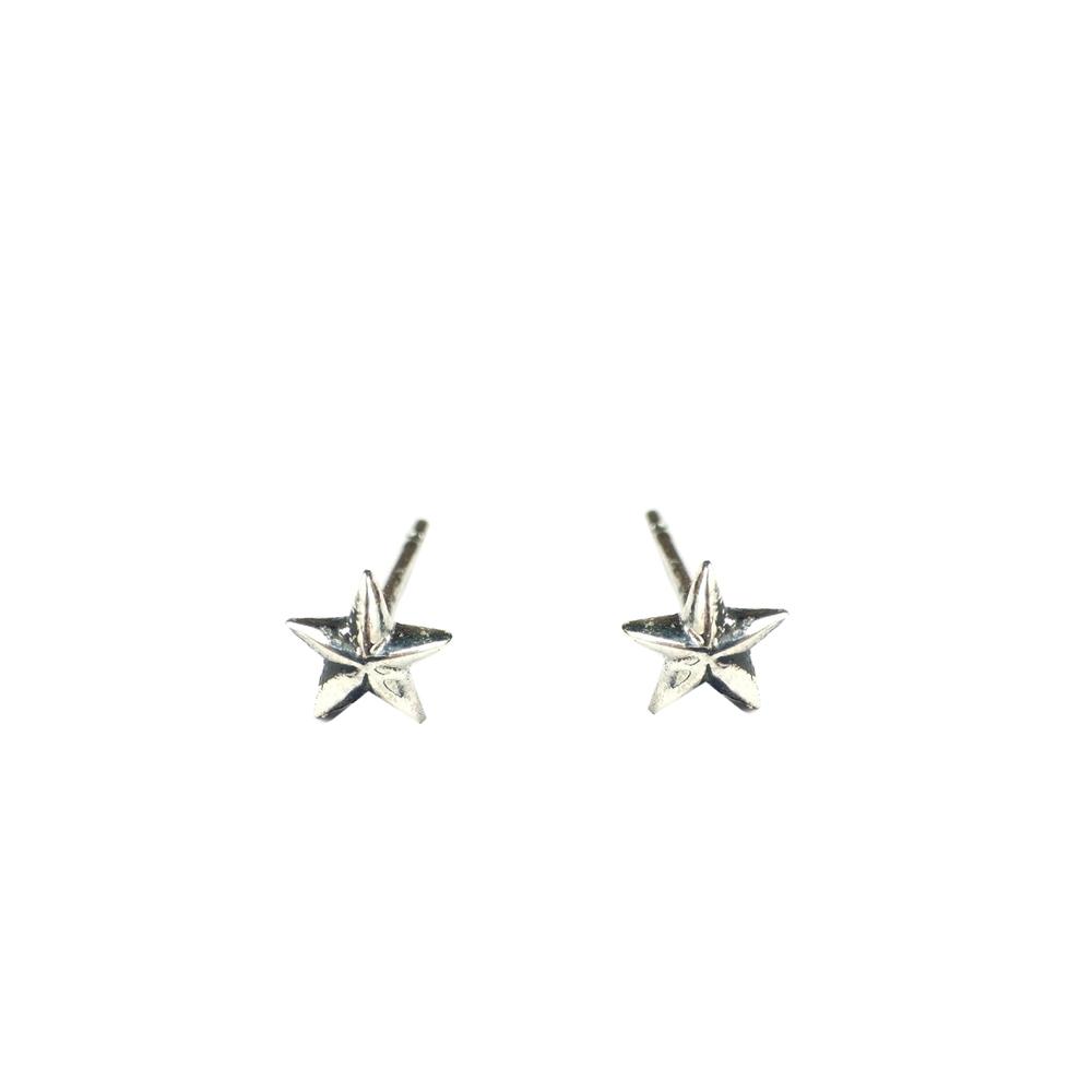 Tiny Star Stud Earrings Silver