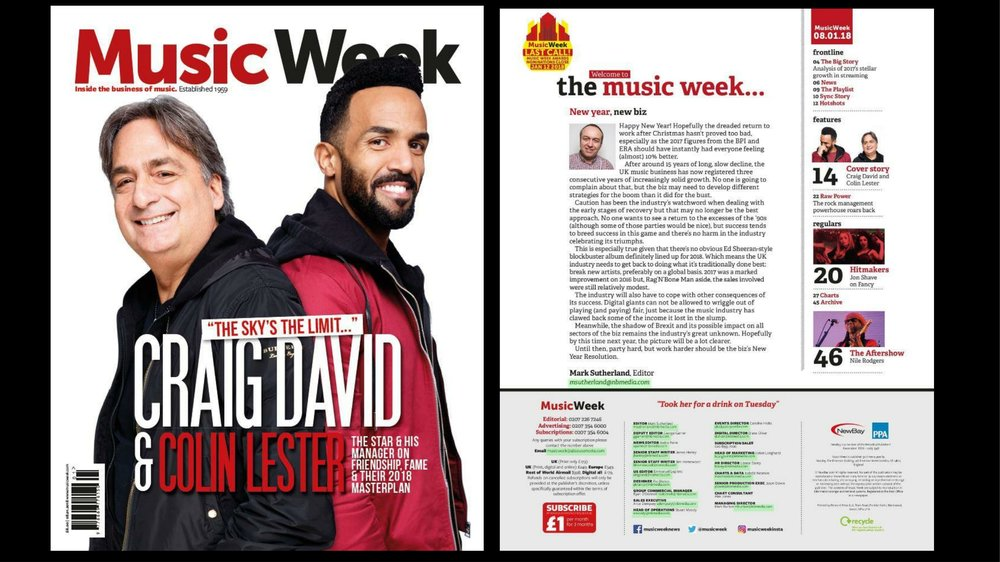 Music Week - Front Cover and Article - Colin & Craig-1.jpg
