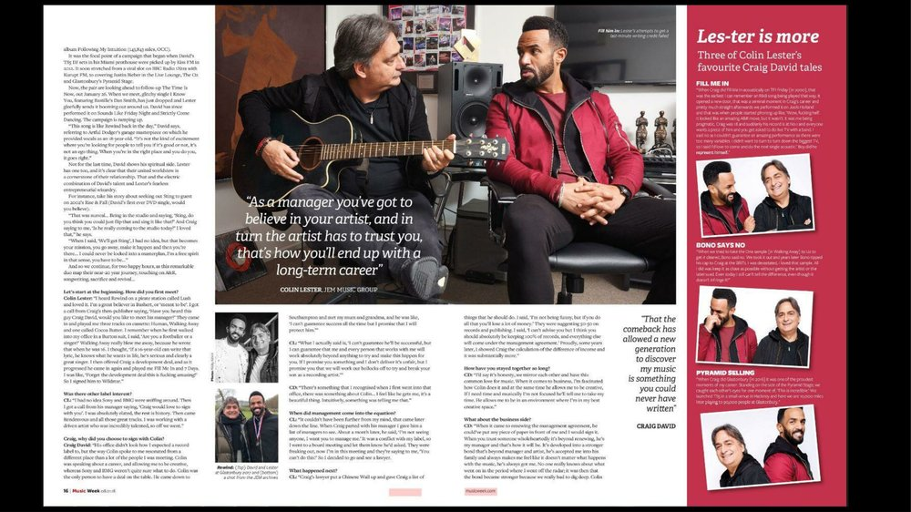 Music Week - Front Cover and Article - Colin & Craig-3.jpg
