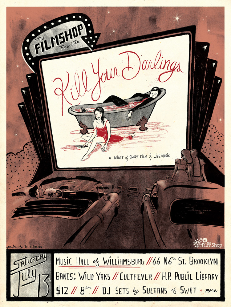 Poster illustration and design Client: The Filmshop July 2013