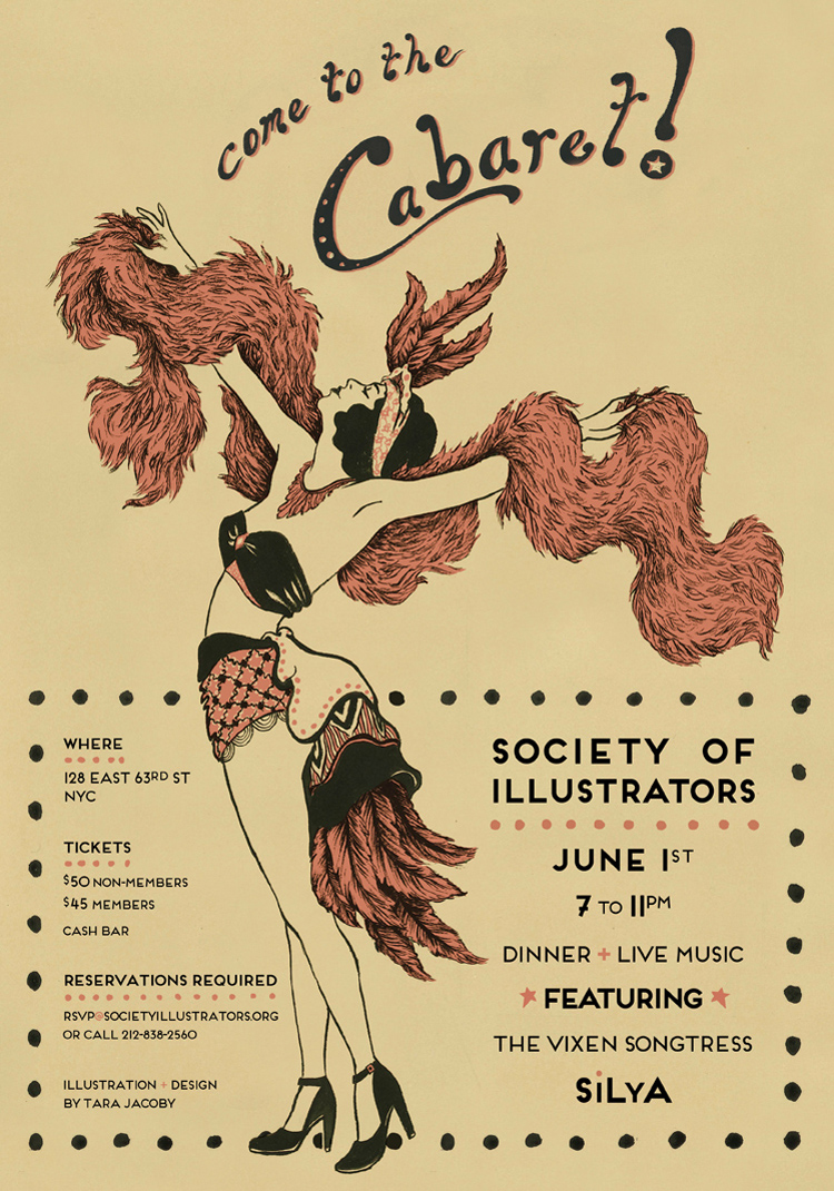 Cabaret Night poster for the Society of Illustrators