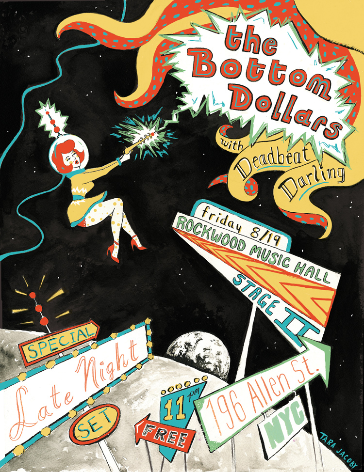 Gig Poster for The Bottom Dollars