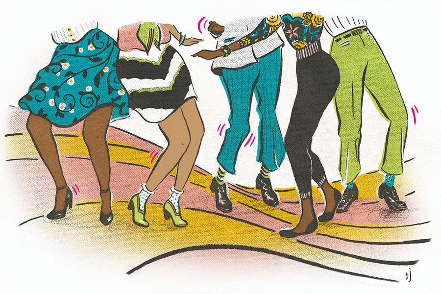 Spot illustration on Soul Music Client: Chicago Magazine, April 2014