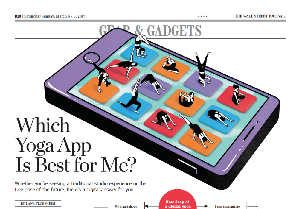 Which iPhone or Android Yoga App Is Best for Me?  for The Wall Street Journal