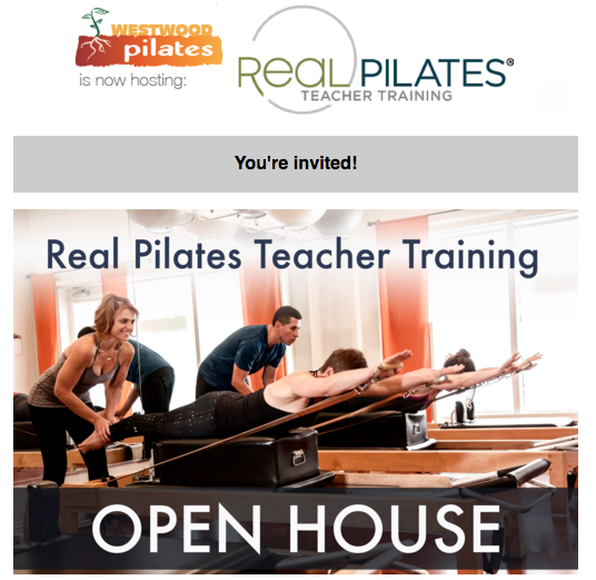 Saturday December 10th, 2016    3-4pm    @Westwood Pilates