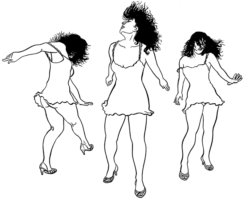"""""""Dancing"""" is the first in a series of drawings called """"Valentines to Other Loves"""" © Joan Reilly"""