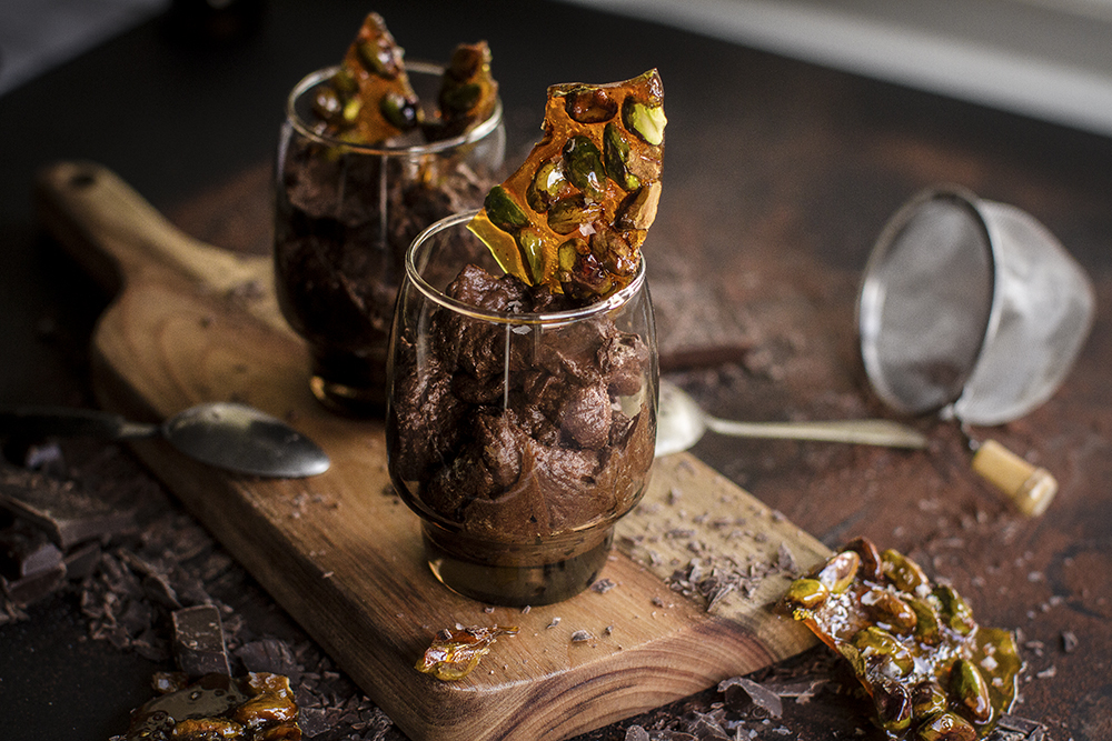 Dark Chocolate Mousse w Salted Caramel Pistachios, appeared originally on Barkly Square. Recipe, styling & photo by Cle-ann for Barkly Square.