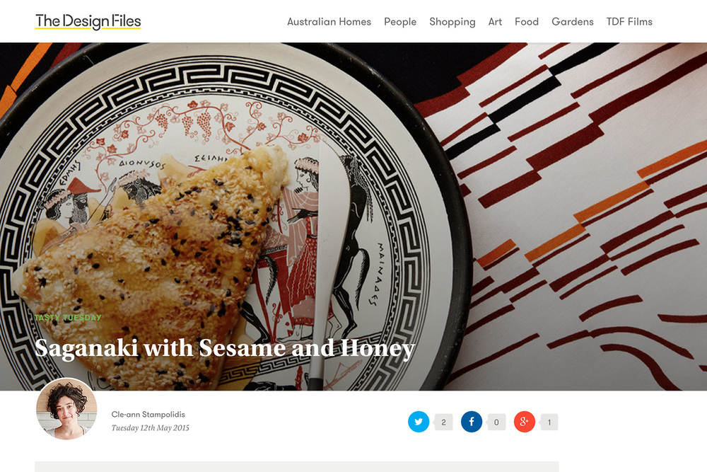Saganaki with Sesame and Honey — The Design Files.jpg