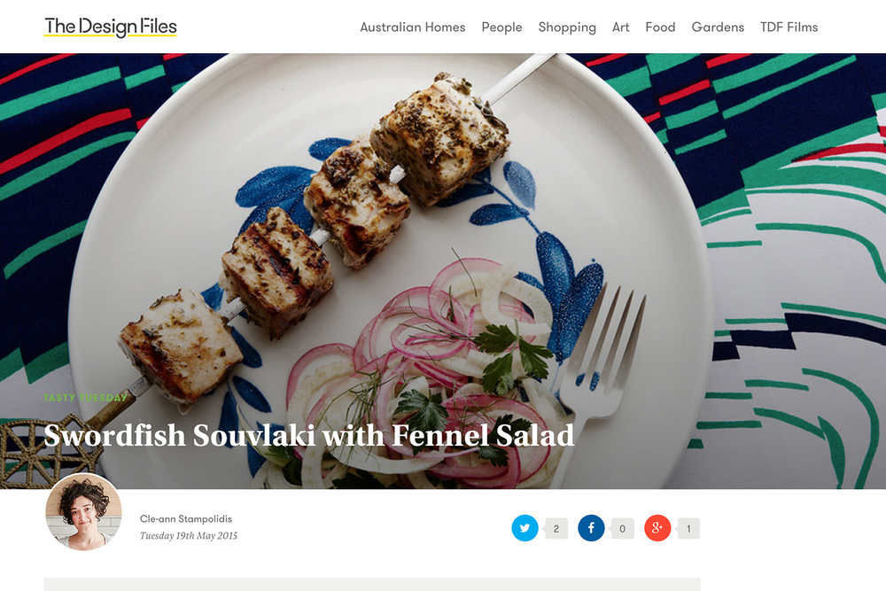 Swordfish Souvlaki with Fennel Salad — The Design Files.jpg