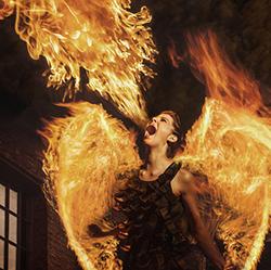 Nóri on fire