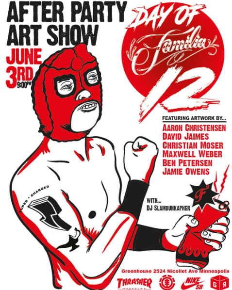 Group exhibition at Green Room HQ, Minneapolis, MN
