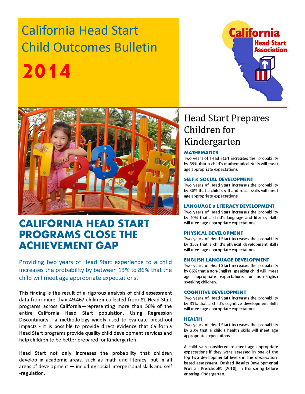 California Head Start Child Outcomes Bulletin 2014