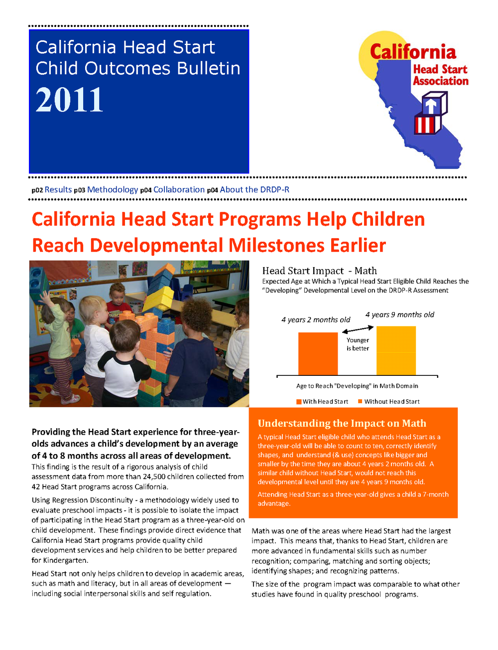 California Head Start Child Outcomes Bulletin 2011