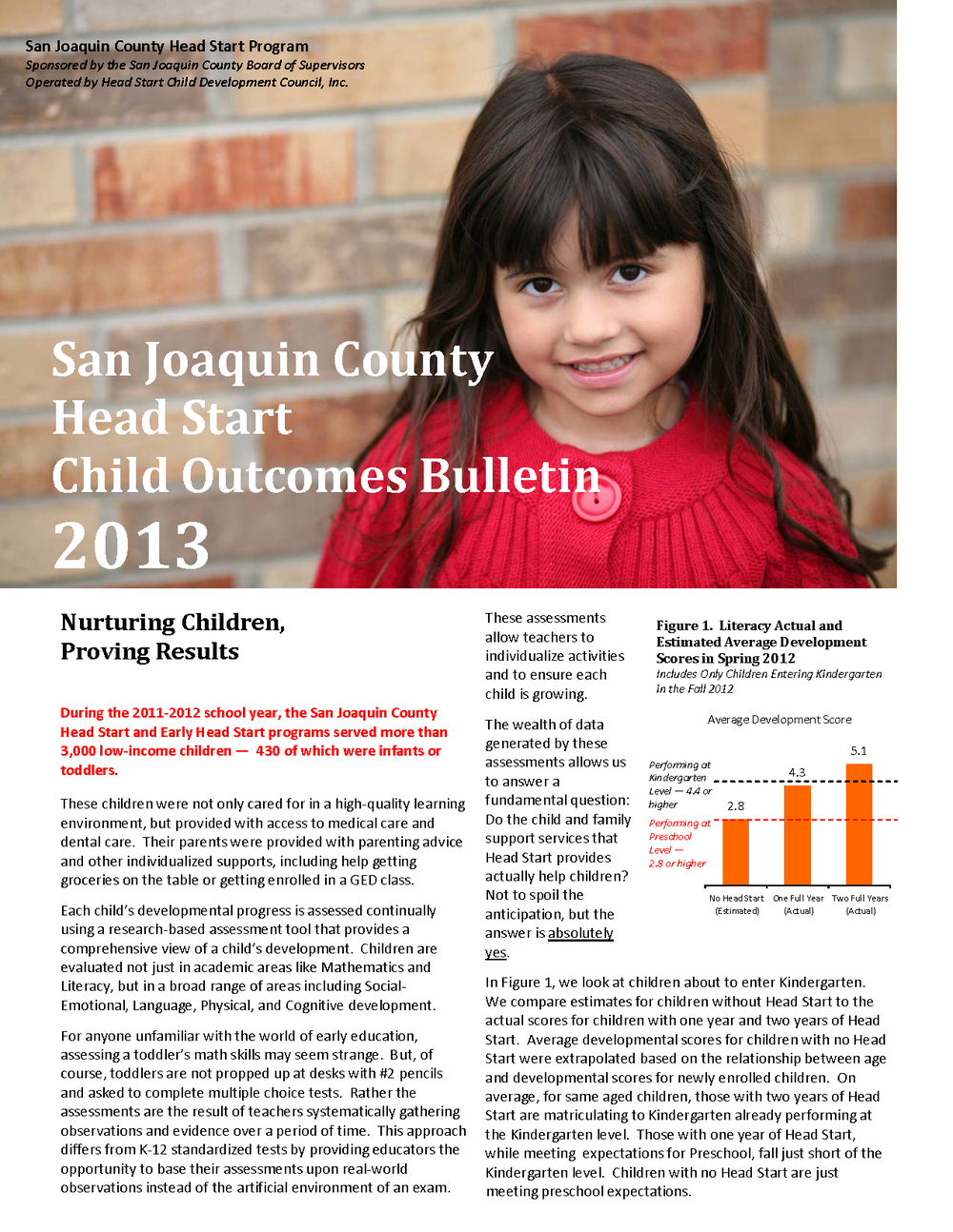 San Joaquin Head Start Program Impact Analysis 2013