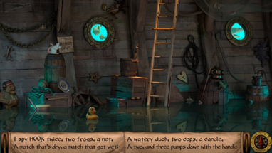 Find all of the hidden objects and pump water out of the leaky bilge.