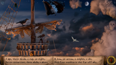 What can you spy from the crow's nest? Operate the telescope just by moving your head!