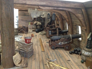 Cannons and other props are added to the armory.