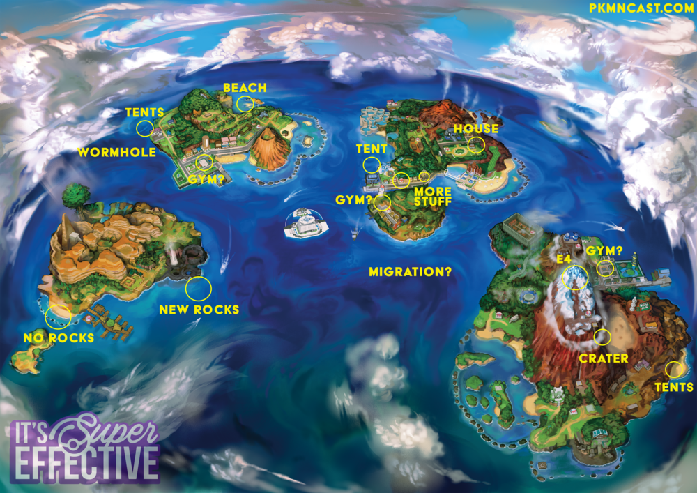 Comparing the Alola Maps — It\'s Super Effective, the Pokémon Podcast