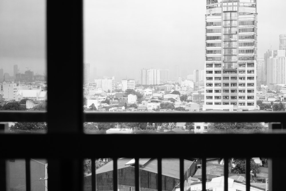 From the new flat.