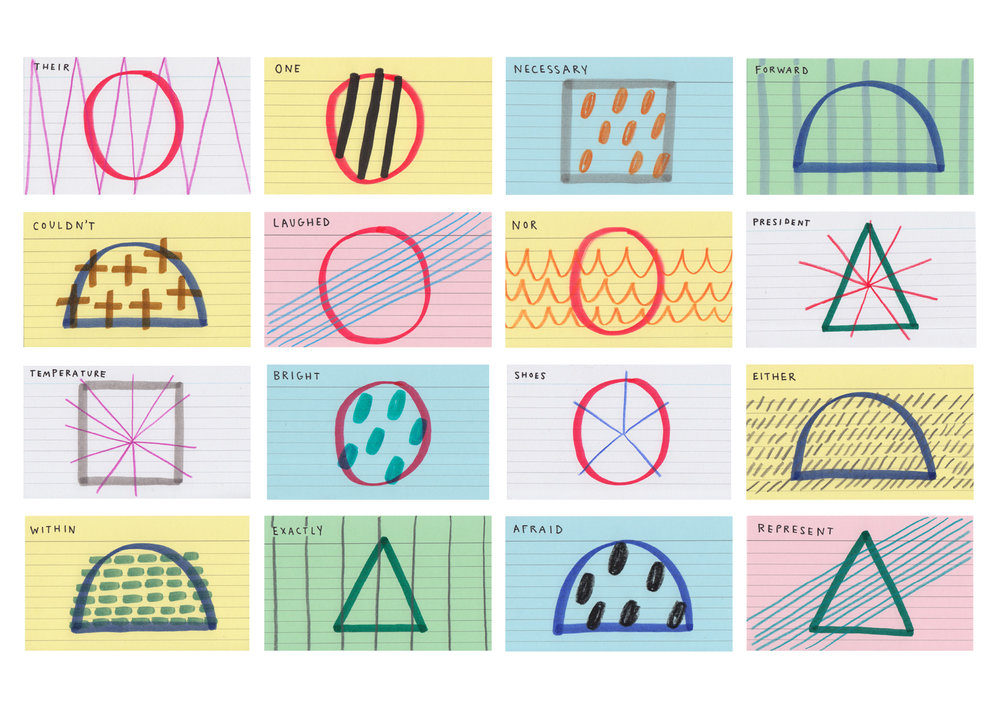 Closeup of selected drawings