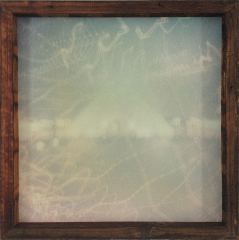 Adarsha Benjamin   Untitled (Unconditional Wave) 01   2013   pigment print with unique 100 year old redwood frame   24 x 24 inches (61 x 61 cm)