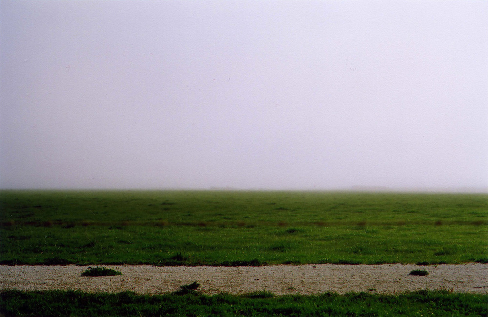 Adarsha Benjamin   Green Grass Gray Skies  2011 pigment print 26 x 24 inches (66 x 61 cm) Edition of 10
