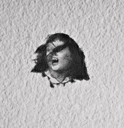 Wall Drawing (detail), pencil on wall, 2008, 0.39″ x  0.39″