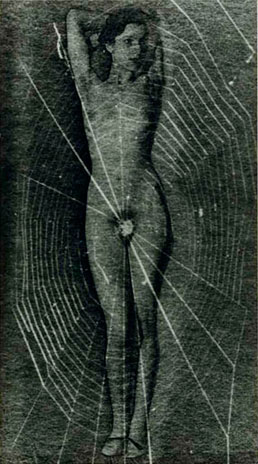 Man Ray,  Untitled (Spider woman) , c. 1929, gelatin silver print, 9,8″ x 5.5″