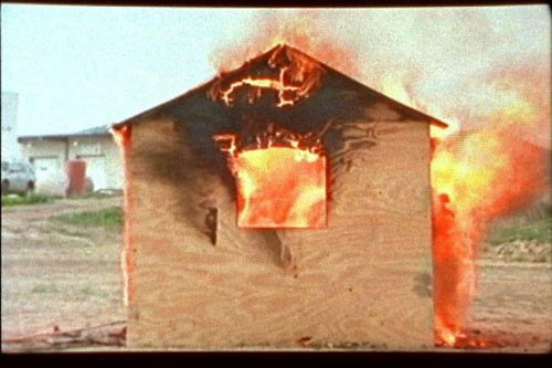 Burning House, 2009 (video still)