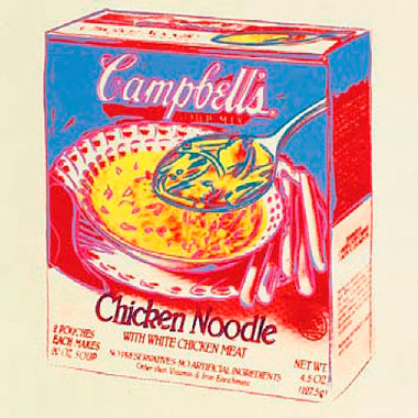 Andy Warhol,  Campbell's Soup Box , 1986, Silkscreen on canvas, 20″ x 20″
