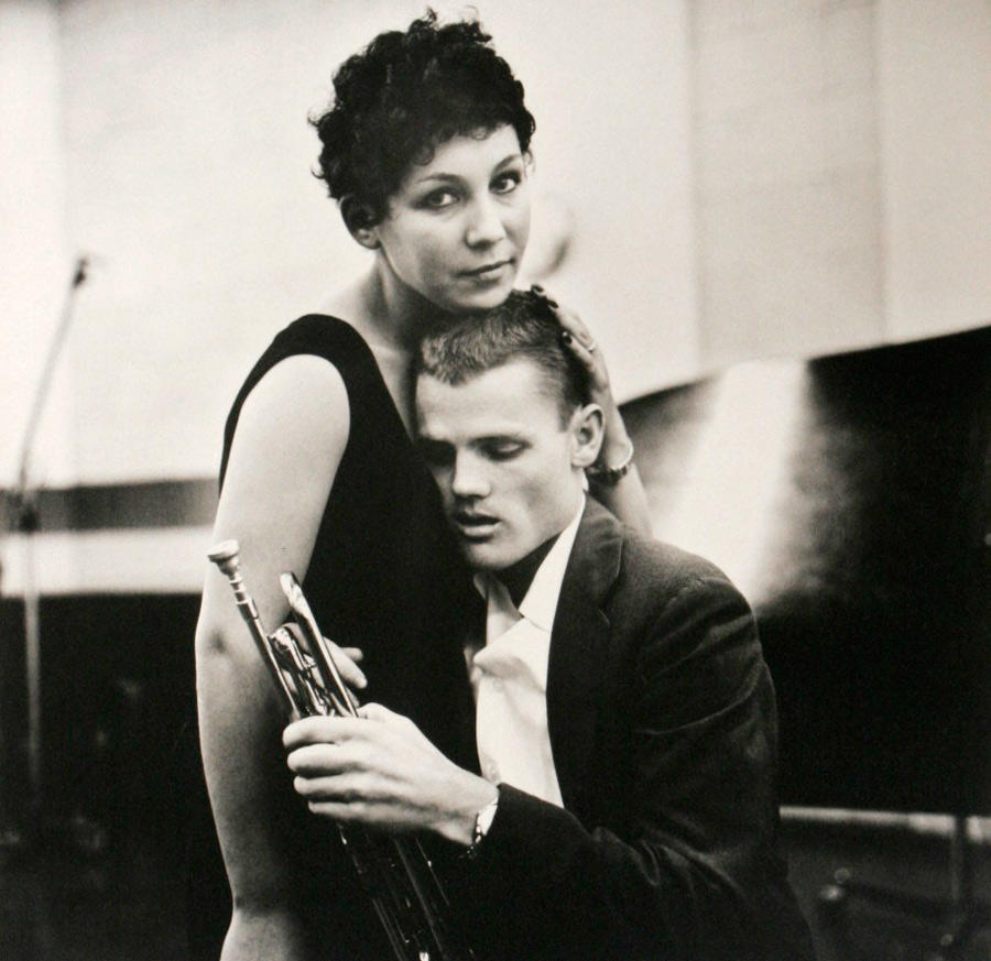 William Claxton   Chet Baker and Lili, Hollywood , 1955 10 x 10 1/4 inches (25.4 x 26 cm) (image size) platinum palladium print signed in pencil in the margin
