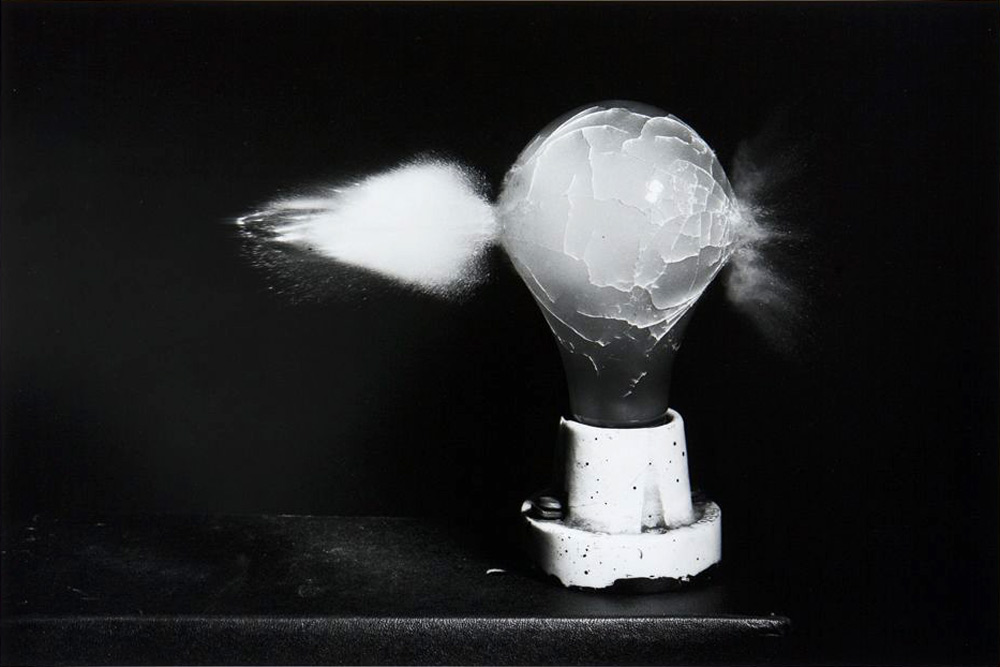 Harold Edgerton   Death of a Lightbulb  , 1936   16 x 20 inches (40.65 x 50.8 cm)   gelatin silver print   signed in pencil on the reverse